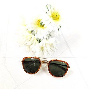 Unisex 80s Root Beer Gold Punched Rim Sunglasses